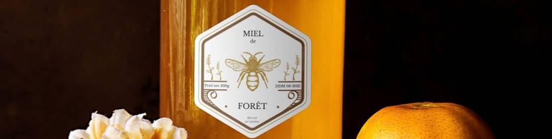 Étiquettes personnalisées pour apiculteur et pot de miel