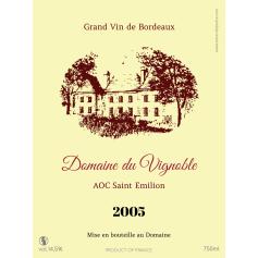 Étiquette autocollante personnalisée Bordeaux