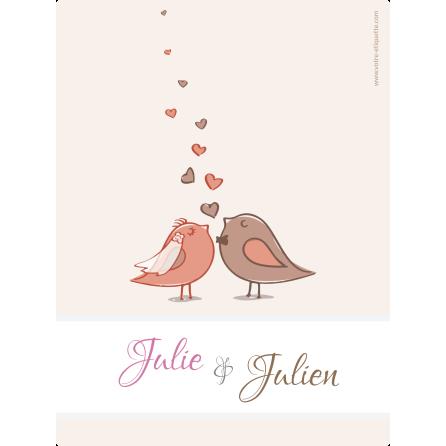 Étiquette autocollante personnalisée mariage oiseaux
