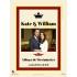 Étiquette autocollante personnalisée mariage Kate et William