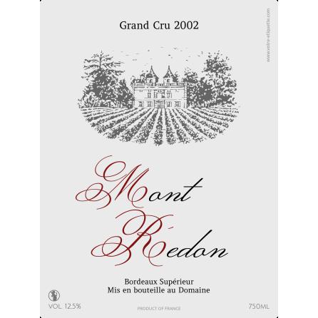 Étiquette autocollante personnalisée Bordeaux Mont Redon