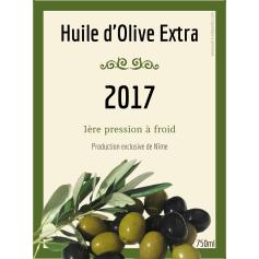 Étiquette personnalisée huile d'olive modèle olive