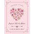 Étiquette personnalisée modèle fête des mères cœur en fleur