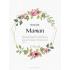 Étiquette personnalisée modèle fête des mères pastel