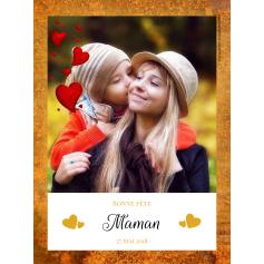 Étiquette personnalisée modèle fête des mères photo