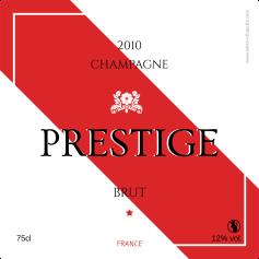 Étiquette autocollante personnalisée Champagne Prestige