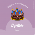 Étiquette autocollante personnalisée anniversaire pour enfant