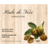 Étiquette autocollante personnalisée huile de noix bois
