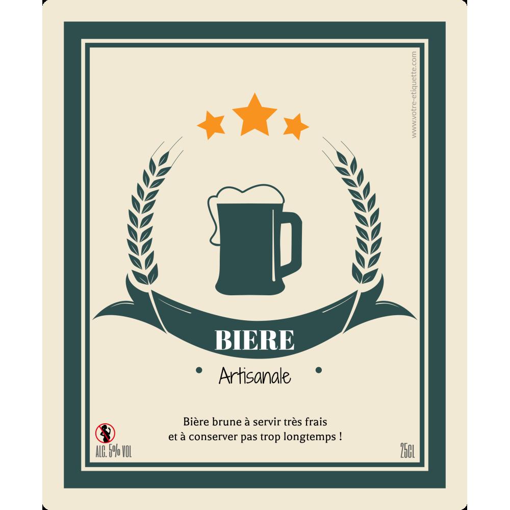 étiquette Personnalisée Autocollante Modèle Bière Artisanale Bouteil