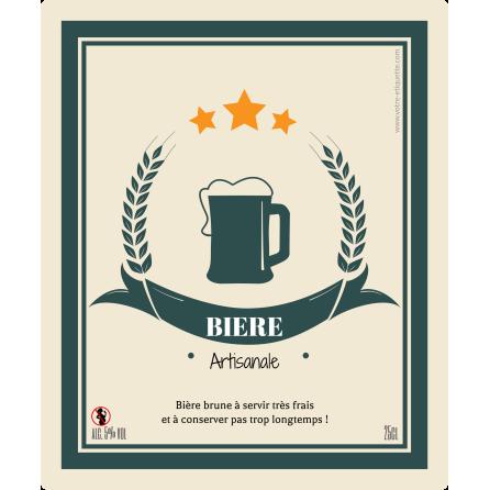 Étiquette personnalisée autocollante modèle bière artisanale