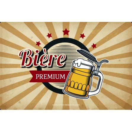 Étiquette personnalisée autocollante modèle bière premium