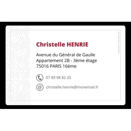 Étiquette autocollante personnalisée adresse postale