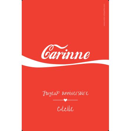 Étiquette personnalisée Cola
