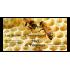 Étiquette autocollante personnalisée miel de printemps avec abeilles