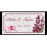 Petite étiquette personnalisée autocollante mariage violet