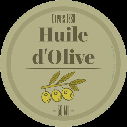 Étiquette autocollante personnalisée huile d'olive ronde