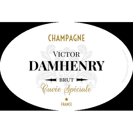 Étiquette autocollante personnalisée Champagne Damhenry