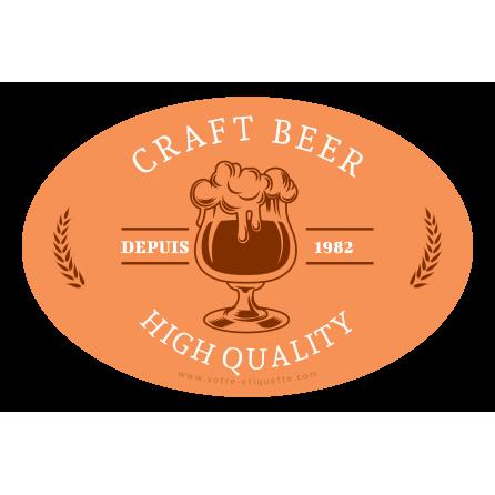 Étiquette personnalisée autocollante modèle craft bière