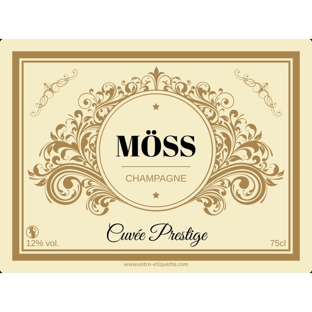 étiquette Autocollante Personnalisée Champagne Champagne