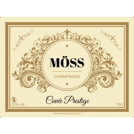 Étiquette autocollante personnalisée Champagne