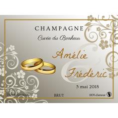 Étiquette autocollante personnalisée Champagne alliance