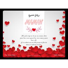 Étiquette personnalisée modèle fête des mères cœur