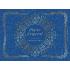 Étiquette autocollante personnalisée noël bleu
