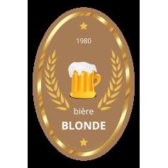 Étiquette personnalisée modèle bière blonde