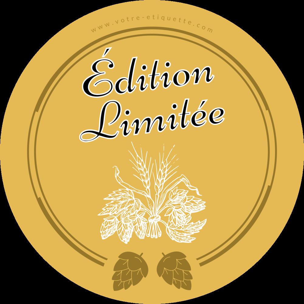 étiquette Personnalisée Autocollante Modèle Bière Houblon Bouteille