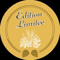 Étiquette personnalisée autocollante modèle bière houblon
