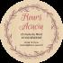 Étiquette autocollante personnalisée adresse ronde fleurs