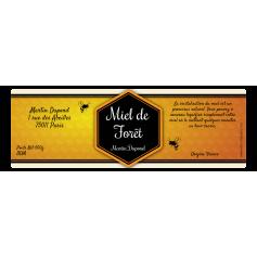 Étiquette personnalisée autocollante miel losange