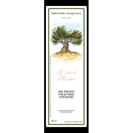 Étiquette autocollante personnalisée huile d'olive olivier aquarelle