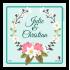 Étiquette autocollante personnalisée couronne en fleurs
