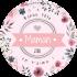 Étiquette personnalisée modèle fête des mères ronde