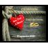 Étiquette personnalisée autocollante mariage nœud et cœur rouge