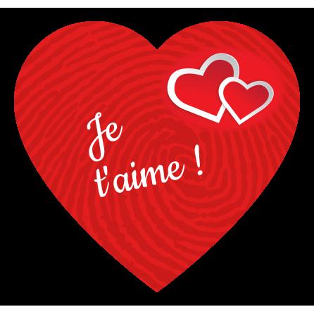 Étiquette personnalisée autocollante modèle coeur saint valentin
