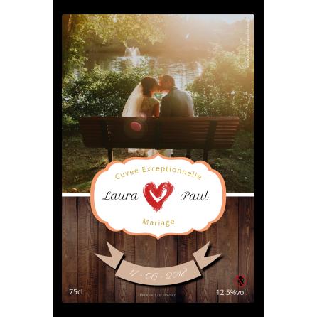 Étiquette autocollante personnalisée mariage photo