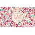 Étiquette personnalisée autocollante modèle amour pastel