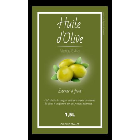 Étiquette autocollante personnalisée huile d'olive blanc
