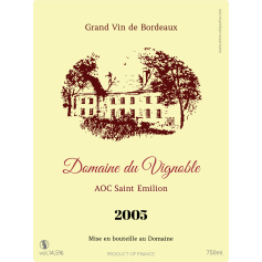 Personalized label Bordeaux