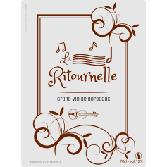 Personalized sticker label La Ritournelle