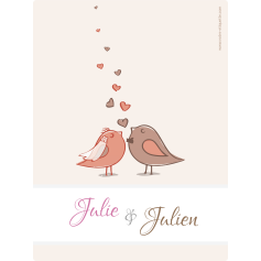 Personalized sticker wedding bird