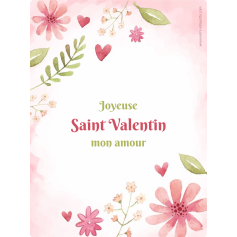 Personalized sticker label Valentine's day template