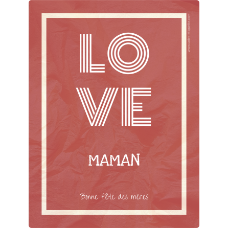 Custom label template mother's day love