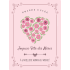 Personalized label template mother's day heart in bloom