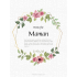 Personalized label template pastel mother's day
