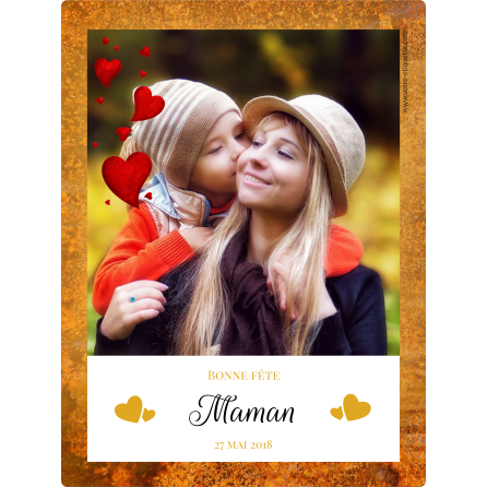 Customized label template mother's day with photo