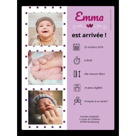 Self Adhesive Label Birth Announcement