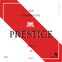 Personalized label Champagne Prestige